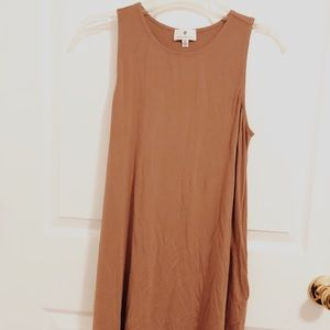 Nordstrom socialite Mauve pink brown swing dress